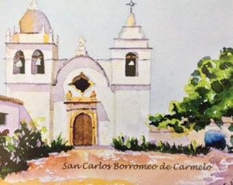 San Carlos Borromeo de Carmelo Postcard