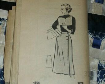 """1940s Pattern 4555 Misses Skirt Size 32, Waist 32"""", Hips 41"""""""