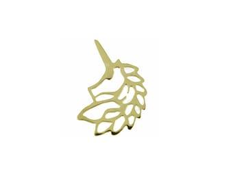 Silver & Gold UNICORN Pendant, 925 Sterling Silver Pendant, Geometric Jewelry,Minimalist Jewelry,Geometric Pendant,Gold Pendant,Gold Unicorn