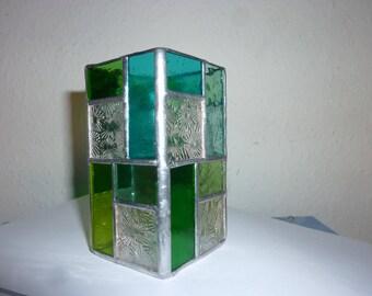 stained glass box, pen holder,eye glass holder.