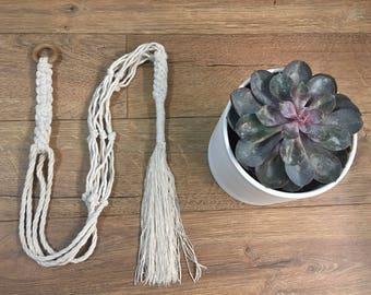 Macrame Cotton Plant Holder