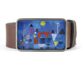 Klee Belt Buckle,  Fine Art Belt Buckle, Re Bridge Belt Buckle