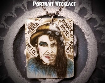 """Portrait On Necklace : """"We All Have Our Flaws Kitten"""" - Denis O'Hare American Horror Story Liz Taylor Stanley Spalding Larry"""