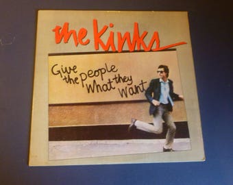 The Kinks Give The People What They Want Vinyl Record LP AL 9567 Arista Records 1981