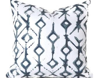 Pillow Covers Decorative Pillows ANY SIZE Pillow Cover Designer Pillow Cover Navy Pillow Cover Premier Prints Tribal Indigo