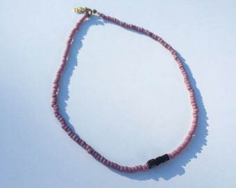 Lavender beaded choker