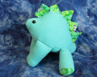 Spring Colored Stegosaurus Plush
