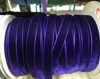 Velvet Ribbon - Purple Velvet Ribbon 10mm ( 3/8 inches )