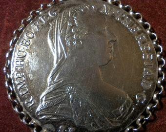 Maria Theresa Taler Pendant Silver
