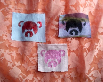 Teddy Bear Head Patch /Patches/Glitter/Glittery/Patches for Jackets/Punk Patches/Feminist Patches/Cute Patches/Valentines Day