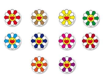 Lot Pins Ø25mm - o38mm Pinback Button Badge / Magnet o38mm Flower flower