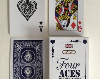 Four Aces GSD Plastic coated, playing cards.