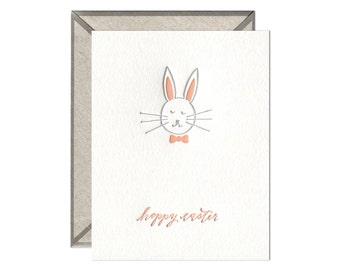 Hoppy Easter letterpress card - single