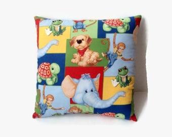 Toddler Pillow, Boy's Room Pillow, Home Decor, Children's Pillows, Bold Colors Boy's Pillow, Boy's Room Decor, Toddler Boy's Decor