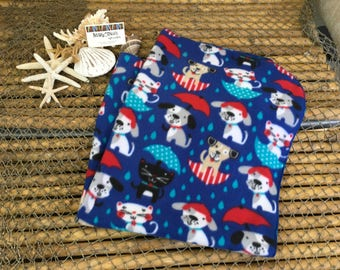 Its raining cats and dogs print warm and very soft for baby fleece receiving blanket