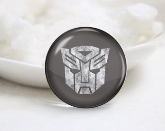 Handmade Round Transformers Photo Glass Cabochons (P3721)
