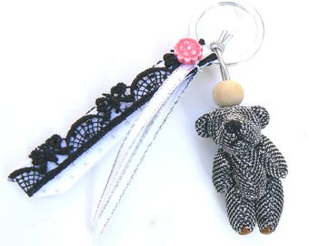Kit bag with mini black bear charm