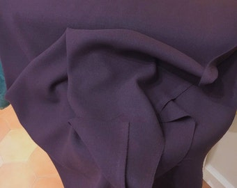 Crepe Fabric Crepe Material CREPE WOOL Fabric by the Yard PURPLE Wool Fabric Dress Fabric Double Crepe