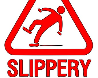 Slipping / Tripping Slippery When Wet Safety Warning Hazard Triangle Sign Adhesive Vinyl Decal