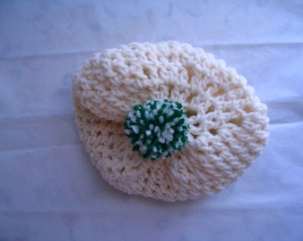 """Crocheted """"Tam"""" Style Acrylic Hat for Baby, Toddlers & Adults too!"""