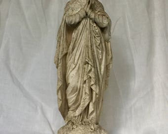 Lovely Old French Madonna Statue