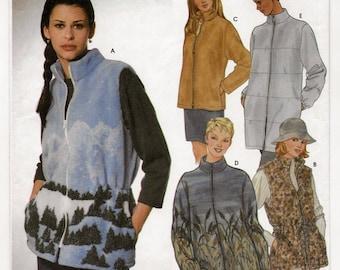 "A Front Zip, Band Collar, Side Pocket Vest & Jacket Pattern for Women: Uncut- Sizes L-XL (18-20, 22-24), Bust 40"" - 46"" ~ Simplicity 5427"