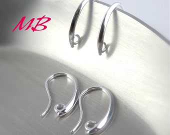12 pcs Silver Plated Ear Wires, Fish Hook