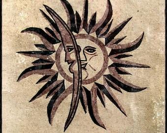 Sun Moon Mosaic Panel - Urania