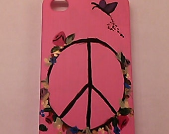 Peace Garden affect- handmade cellphone case
