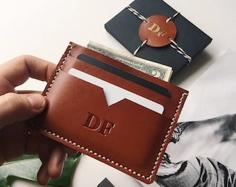 Personalized Card Holder, Leather Card Holder, Cardholder, Front Pocket Wallet, Leather Wallet, Slim Wallet, Personalized gift
