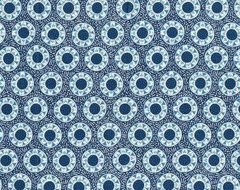 SALE - RJR Fabrics - Blue Sunflower  (RJRO90616) - Cotton fabric by the yard(s)