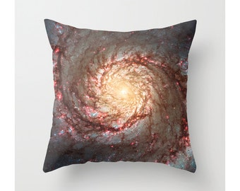 Galaxy Pillow Cover, Outer Space Nebula Pillow Cover, Cosmic, Whirlpool Galaxy