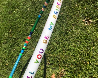 Bridesmaid Proposal Hula Hoop // Choose your Colors and Size! // Handmade Fitness Hoop