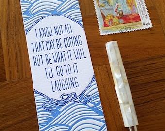 Herman Melville Quote, Letterpress Bookmark