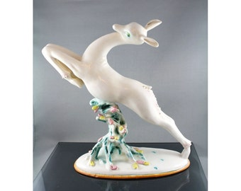 Art Deco Figure La Berica Italy Deer or Gazelle 1946-49