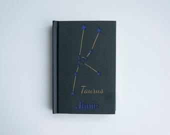 TAURUS notebook, Zodiac notebook, Taurus art, Personalized zodiac notebook, Personalized Taurus gift, Zodiac star sign, Astrology gift