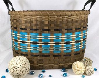 "BASKET PATTERN ""Pasha"" Large Gathering Basket for Afghans, Laundry, Toys, or Towels"