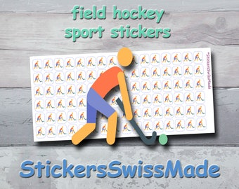 PLANNER STICKER || field hockey || sport || small colored icon | for your planner or bullet journal
