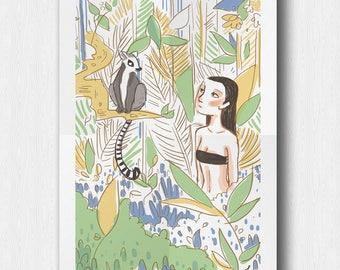 """Kiki"" illustration poster"