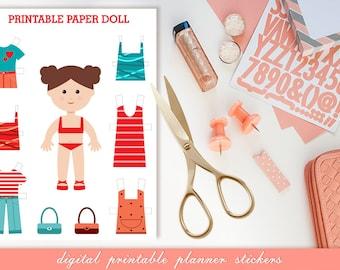 PAPER DOLL PRINTABLES Digital Sheet Paper Instant Download