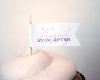 Happily Ever After - Cupcake flags