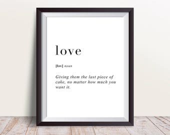 love Definition Print, Wall Art Prints, Quote Print, Wall Decor, Minimalist Poster, Minimalist Print, Modern Art, love Print, Definition