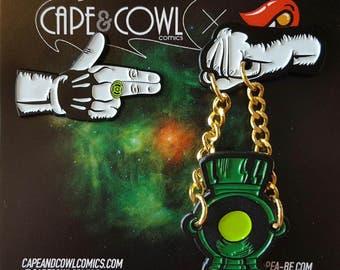 Green Lantern Run the Galaxy Enamel Hat Lapel Pin - Emotional Spectrum Jewels Set