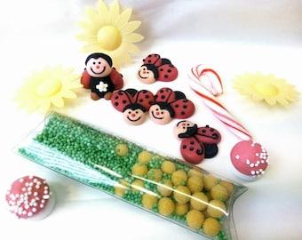 """Ladybug"" Cupcake sugar decoration Kit"
