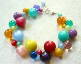 Rainbow Vintage Lucite Bracelet