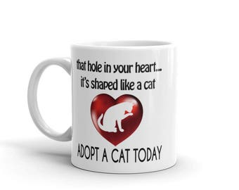 Hole In Your Heart (Cat) Mug