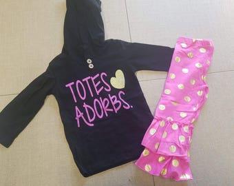 Totes Adorbs hoodie set