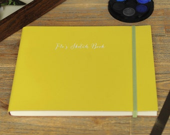 Personalised Recycled Leather Sketch Book