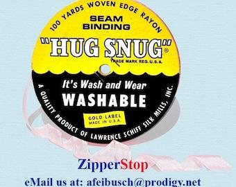 "ASH PINK - Hug Snug Seam Binding - 100 yard roll 1/2"" Wide - 100% Woven-Edge Rayon - Sewing Trim & Craft Supply"