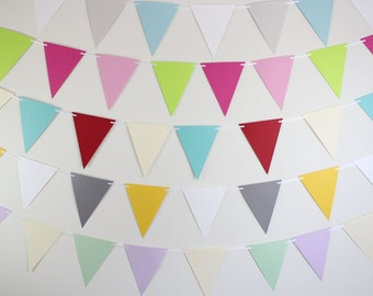 Birthday Banner- Pick your own CUSTOM COLORS, birthday party decoration, pennant banner